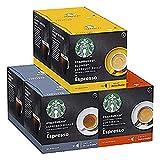 STARBUCKS Variety Pack, Espresso-Varianten by Nescafe Dolce Gusto Kaffeekapseln, 72 Kapseln ( 6 x 12, 36 servings)
