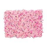 YNGJUENCP Künstliche Blume Wandplatten Rose Hortensie Blume Wandmatte Bildschirm 15,7'x23.6 Für Home Hochzeit Hintergrund Party Venue Foto Fotografie Dekor(Color:03)
