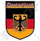 DEUTSCHLAND Deutschland Deutscher Schild 100mm Auto & Motorrad Aufkleber, Vinyl Sticker