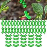Wondsea 50 Stück 90 Grad Pflanzentrainer Clips Pflanzenwachstum Bieger Clips Pflanze Zweige Bender für Pflanze Low Stress Training Kontrolle von Pflanzen (Grün)