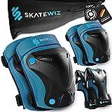 SKATEWIZ Protect-1 Skates Schoner für Inliner und Rollschuhe - Mädchen und Jungen - Größe XS in BLAU