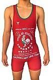 Awesome Sauce Sriracha Wrestling Singlet für Jugendliche und Erwachsene, Herrengrößen (Jugendliche L: 25 - 31,8 kg)