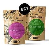 Vita Et Natura® Zyklustee 1 und 2 'Probier Set' - Bewährte Kräutermischungen nach traditioneller Rezeptur - 100% BIO - 120g loser Tee (2 x 60g)