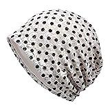 PRETYZOOM Chemo Hut Krebspatienten Schlafen Nachtmütze Hut Baumwolle Haar Turbane Mütze Nacht Kopfbedeckung Haarausfall Hut für Frauen (Beige)