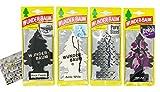 Black Classic Mix Wunderbaum Duftbaum und Lufterfrischer inkl. 1 x Glasreinigungstuch von SP Großhandel Gratiszugabe (Black Classic + Arctic White + Pure Steel + Relax)