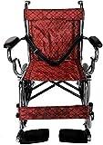 XUSHEN-HU Rollstühle 40,6 cm Kinderrollstuhl, manueller weicher Sitzrollstuhl, tragbarer Reise-Rollstuhl, galvanisierter Klapp-Rollstuhl, leicht