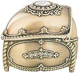 MWXFYWW Einzigartige tragbare Schmuckschatullen Creative Diamond Upscale Schmuckschmuck im europäischen Stil Retro Personality Collection Box für Ringe