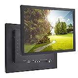 Hyuduo1 15 Zoll 1024 x 768 HD Fullmetal Industrieller Monitor HDMI/VGA/AV/BNC/USB G15 (V59) (100-240 V), für PC, TV, Kamera, Sicherheit, Drohne, Raspberry Pi.(EU)