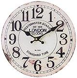 perla pd design Glaswanduhr Quarzuhr Vintage Design London ca. Ø 30 cm