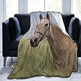 Cap pillow Fleecedecke 127 x 152,4 cm – Pferdemaulkorb Zuhause Flanell Fleece weich warm Plüsch Überwurf Decke für Bett Couch Sofa Büro Camping