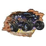 DT Poster Racing 3D Wandriss Selbstklebende Wandaufkleber Crushed Wall Decal Aufkleber Art Wallpaper 38Wx23H