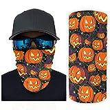 wbinshey Magischer Schal Halloween Kürbis Orange Kopfbedeckung Bandana Halstuch, Kopfwickel Sturmhaube für die Jagd und ein bestes Geschenk für Freunde, weiß, Einheitsgröße