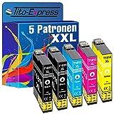 Tito-Express PlatinumSerie 5X Tinten-Patrone XXL TE-1811 - TE-1814 18XL als Ersatz für Epson XP-102 XP-202 XP-205 XP-212 XP-215 XP-225 XP-402 XP-405 XP-412 XP-413 XP-415 XP-420 XP-422 XP-425