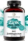 MAISON NATURELLE® Zink Tabletten (365 Stück) – Hochdosiert mit 25mg Zink Bisglycinat - Zink Zink Tabletten Zink Hochdosiert Zink Zitrat Zinc