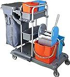 BELLANET Profi Reinigungswagen für Hotel, Gastronomie und Gebäudereinigung