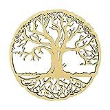 HOLZBIBER® Baum des Lebens 20 cm Durchmesser Made In Germany Holz Ausschnitt zum Aufhängen Fensterschmuck Wandschmuck