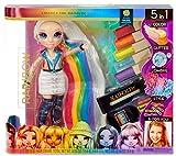 Rainbow High 569329E7C Haarstudio - Exklusive Amaya Raine Puppe mit extra langem Haar und waschbaren 5-in-1-Farben