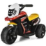 COSTWAY 6V Elektro Motorrad mit Musik und Hupe, Dreirad Kindermotorrad bis 2km/h, Elektromotorrad mit Vor- und Rückwärtsschalter, Elektrofahrzeug für Kinder von 3 bis 5 Jahren