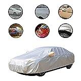 yinbaoer Wetterfeste Auto-Abdeckung Silberfarben Wasserdicht Autoabdeckplane Atmungsaktive Car Cover Geeignet FüR Alle Autos Silver,ym