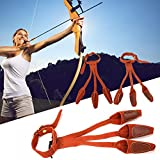 Fingerschutz für Bogenschießen, Einsteckschutz, hochwertiges Material, Kunststoff, Handflächenteil (braun)