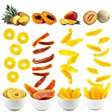 Getrocknete Früchte 800 g – Ananas, Mango, Honigmelone, Papaya – 4er Pack je 200 g – kandierte Fruchtstücke -Vegane Lebensmittel – Trockenfrüchte zum Genießen für zu Hause und Unterwegs.