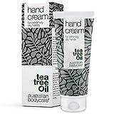 Australian Bodycare Hand Cream 100ml | Handcreme für sehr trockene Hände | Handcreme für Männer & Frauen mit rauen & rissigen Händen | Vegane Handcreme mit 100% natürlichem Teebaumöl