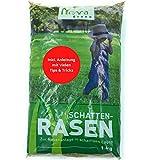 Premium Schattenrasen Rasensamen schnellkeimend für den Herbst 1kg = 30m² | dürreresistent, robust, tiefgrün | Ideal für Rasen Reparatur, Rasen Nachsaat, N