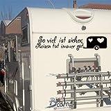 """klebenswichtig """"So viel ist sicher; Reisen TUT Immer gut. Wohnwagen Herzen Fenster XL ca.60cm Aufkleber Camping Wohnmobil Wohnwagen Womi Caravan"""