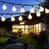 Solar Lichterkette Außen, OxyLED 120 LED 20M Globe Lichterkette Außen Solar Lichterkette WarmeWeiß 8 Modi IP65 Wasserdicht LED Kugel Lichterkette für Garten, Bäume, Balkon, Party, Weihnachts Deko