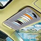 Autonetztasche Auto Visier CD DVD Disk-Karten-Kasten-Halter Clipper Tasche Halten, for 12 PCS Disks (Color : Grey)