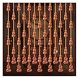 N/Z Home Equipment Pfirsichholz Perlen Vorhang Kürbis Vorhang Trennvorhang Wohnzimmer Badezimmer Schlafzimmer Eingang Lotus Vorhang anpassbar (Farbe: B Größe: 150x176cm)