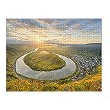 artboxONE Ravensburger-Puzzle XXXL (2000 Teile) Natur Moselschleife in Bremm - Puzzle Rheinland-Pfalz calmont Herbst