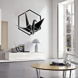Opprxg Tausend Papierkraniche Wandtattoo Origami Vogelfigur Türen und Fenster Vinyl Kinderzimmer Innendekoration Tapete 57x63 cm