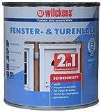 Wilckens 2-in-1 Fenster- & Türenlack seidenmatt, 750 ml, weiß 12993100050
