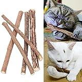 16 Stück Matatabi Katzen Kauhölzer Catnip Snacks Sticks Katzenminze Zähne Gesund Hygiene Zahnpflege Natur unterstützen die Natürliche Zahnpflege helfen spielerisch bei Mundgeruch & Zahnstein (20)