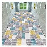 SJSF L Sehr Lang Läufer Teppich Flur Teppichläufer, Waschbar Eintrag Teppiche, Nicht rutschfest Eingang Matte Zum Wohnzimmer Küche Hotel Halle,A,0.9 * 5