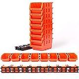 XCQ 8 stücke ABS Toolbox Awall-montierte Aufbewahrungsbox Faltbare Tablett Hardware Schraube Werkzeug Organisieren Sie Kasten, stapelbar für kleine Gestelle nebeneinander langlebig 0325