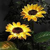 XINAYUEJP Solar Gartenleuchten,Wegeleuchten,Ip65 Wasserdichtes Solar-Sonnenblumen-Led-Licht FüR Garten Rasen Innenhof Veranda Gehweg (2 StüCk)