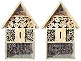 Novaliv 2 x Hummelhaus I Insektenhotel Insektenhaus Dekoration I Bienenhotel Garten Marienkäferhaus