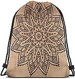 Kordelzug-Tasche, Vintage-Mandala, persisch, Boho, wasserabweisend, Rucksack, tragbar, strapazierfähig, aus weichem Poly