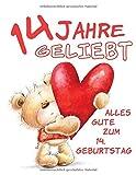 Alles Gute zum 14. Geburtstag: 14 Jahre Geliebt, Zeigen Sie Ihre Liebe mit diesem Süßen Geburtstagsbuch, das als Tagebuch oder Notizbuch verwendet werden kann. Besser als eine Geburtstagskarte!