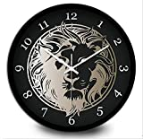 Wanduhr Europäische Moderne Metall Wanduhr ruhigen Uhr Retro Wanduhr Mode einfach Wohnzimmer Küche Restaurant Schlafzimmer Wanduhr, Black, 30