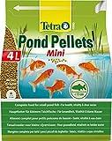 Tetra Pond Pellets Mini – Hauptfutter für kleine Teichfische, schwimmfähige Futter Pellets für die tägliche Fütterung, 4 L Beutel