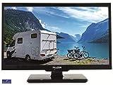 Falcon S4 Serie 19 Zoll Full HD LED TV mit DVD Player / 12V und 24V Betrieb/Bluetooth/Triple Tuner DVB-S2, DVB-T2, DVB-C/CI+ Steckplatz/ 12V KFZ Kabel inklusive/perfekt für den Camping Urlaub