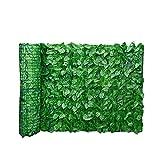 Runfun Blatt Zaun Panels Artificial Blatt Spalierhecke Privatsphäre Zaun Rolle Wand Landschaftsbau Im Freien Garten-hinterhof Balkon Zaun 0.5x3m