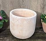 Blumentopf echt Terrakotta ca. 22 cm , Blumenkübel Übertopf für Garten und Wohnung Terracotta ........... kein Kunststoff, Blumen Pflanzgefäß