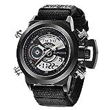 Herren Uhr Hochwertiges Quarzwerk Sport Casual Watch Militär Outdoor Armbanduhr Mit Nylon B
