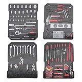 725-Teiliges Reparaturwerkzeugset Werkzeugkoffer Werkzeug Trolley Werkzeugkasten Werkzeug Set