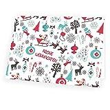 Hochwertige Weihnachtskarte Weihnachtssymbole im Format 17,0cm x 12,0cm mit passendem Umschlag 5x Karte 5x Umschlag