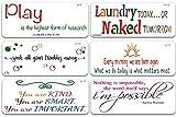 SOOQOO Funny Home Family Sign Schablonen – 6 Stück große inspirierende Wort-Schablonen – Malen auf Holz, Wand, Stoffe, Leinwand für Heimdekoration und Bastelkunst (3,8 cm)